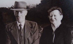 An old photo of a couple